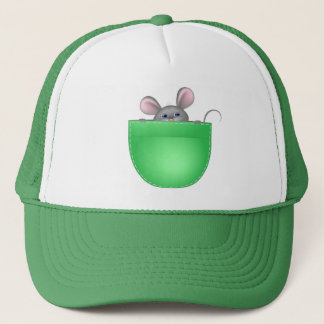 Mouse In Pocket Trucker Hat