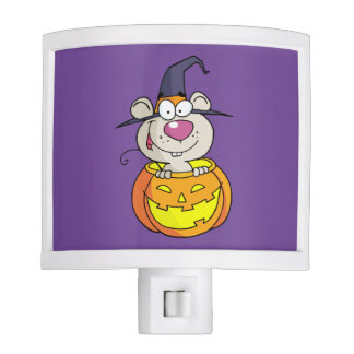 mouse in pumpkin night light