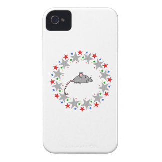 Mouse in Stars iPhone 4 Covers