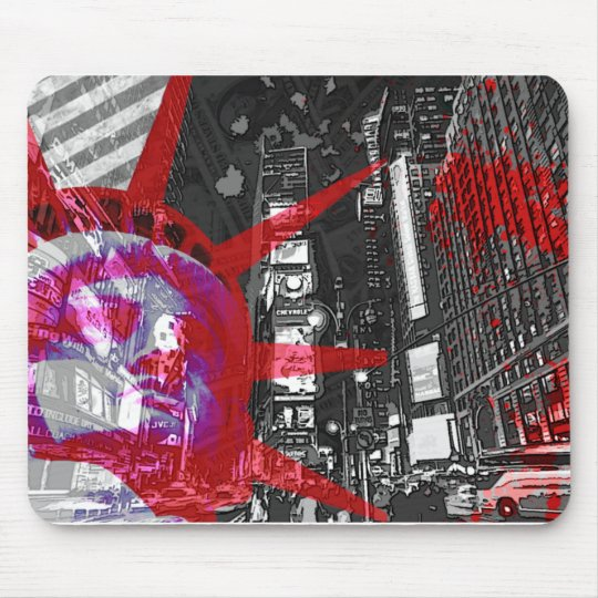 mouse mat New York the USA rules red freedom