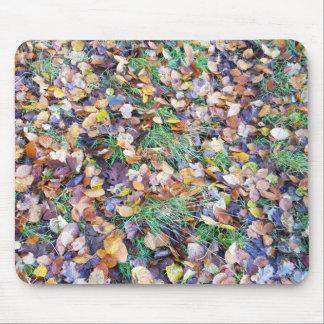 Mouse mat Sheets of autumn