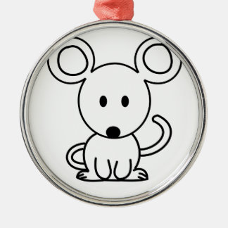 Mouse Metal Ornament
