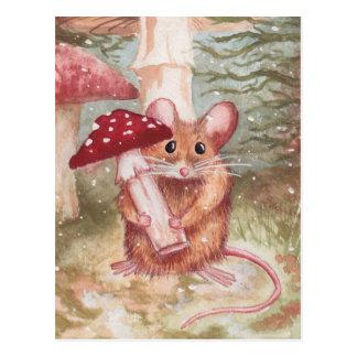 Mouse & Mushroom Postcard