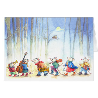 Mouse Music Band - Children's Greeting Card