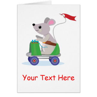 Mouse on a Skate Scooter Invitation