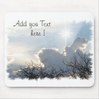 Mouse Pad Glory to God with a cross in the sky