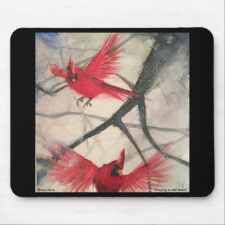 """Mouse pad """"Playing In the Snow"""""""