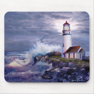 Mouse pad seascape with Cape Blanco Lighthouse