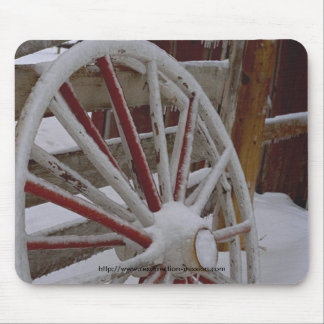 Mouse pad~~ Snowy Wagon Wheel Mouse Pad
