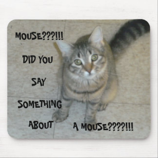 MOUSE PAD W/ KITTY AND SAYING