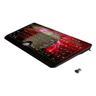 Mouse pad wireless keyboard
