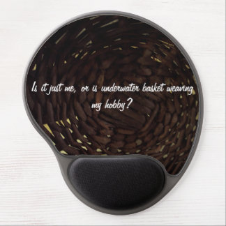 Mouse pad with basket weaving pattern. gel mouse pad