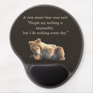 Mouse pad with bear cub