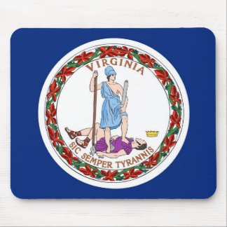 Mouse pad with Flag of Virginia State - USA