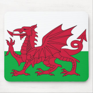 Mouse pad with Flag of Wales