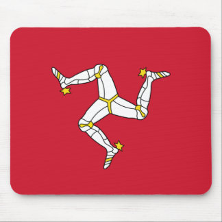 Mouse pad with Isle of Man Flag