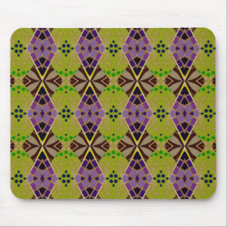 Mouse Pad with Olive-Patterned Design
