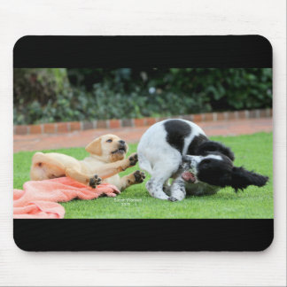 Mouse Pad with playing puppy's