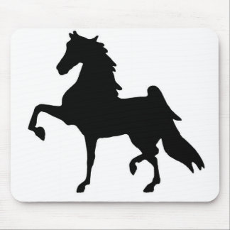 Mouse pad with Saddlebred silhouette