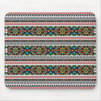 Mouse pad with Ukrainian pattern