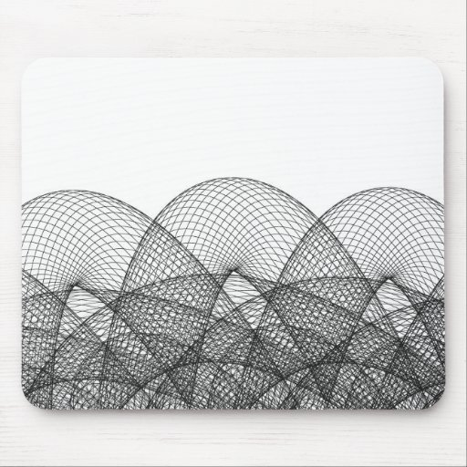 Mouse Pad with Wire Frame Pattern