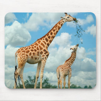 Mouse PADs giraffes mother and child