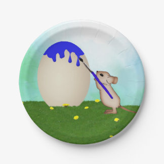 Mouse Painting An Easter Egg Paper Plates