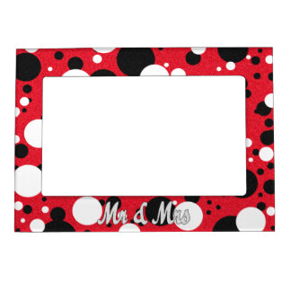 Mouse Party Mr. & Mrs. Wedding Magnetic Frame