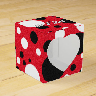 Mouse Party Wedding Mr & Mrs Heart Favor Box
