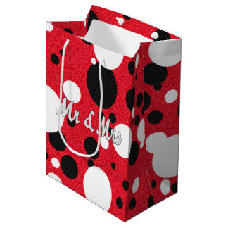 Mouse Party Wedding Mr & Mrs Polka Dots Party Bag