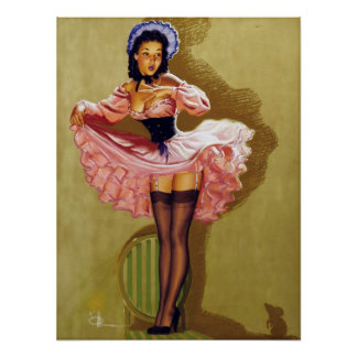 Mouse Pin Up Poster