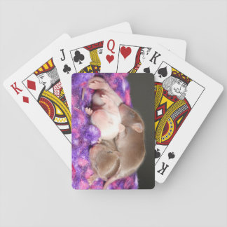 Mouse Playing Cards: 3 Baby Mice Playing Cards