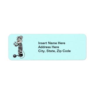 Mouse Prisoner Return Address Label