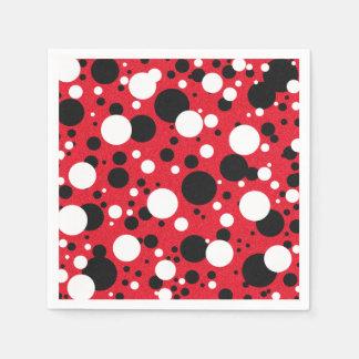 Mouse Red Black Party Polka Dot Cocktail Napkins Paper Napkins