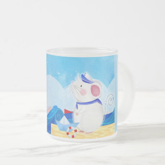 Mouse Sailor frosted glass mug