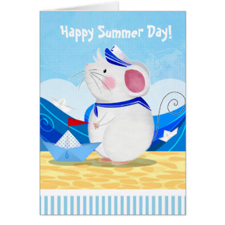 Mouse Sailor greetings card