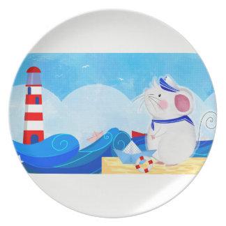 Mouse Sailor melamine plate