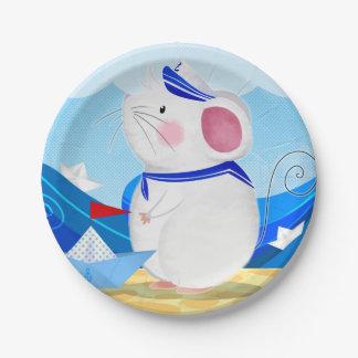 Mouse Sailor paper plates
