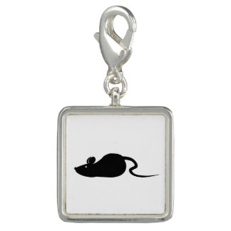 Mouse Silhouette Charm