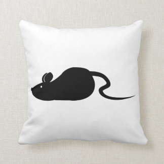 Mouse Silhouette Throw Pillow