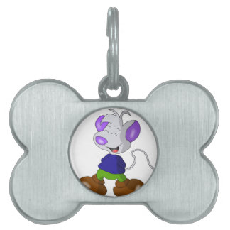 Mouse smiling pet tag