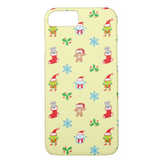 Mouse, snowman, teddy and elf Christmas pattern iPhone 8/7 Case