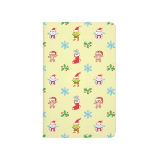 Mouse, snowman, teddy and elf Christmas pattern Journal