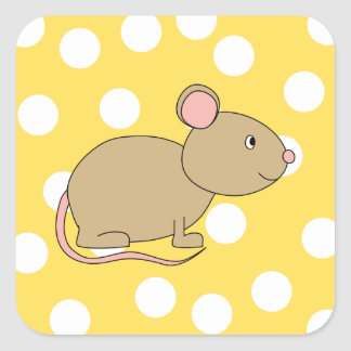 Mouse. Square Sticker