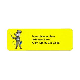 Mouse Teacher Return Address Label