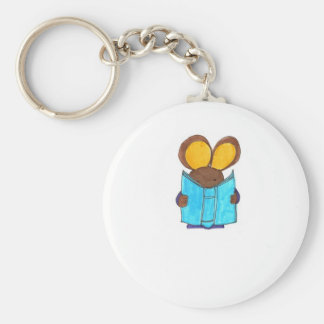 Mouse The Book Worm Keychain