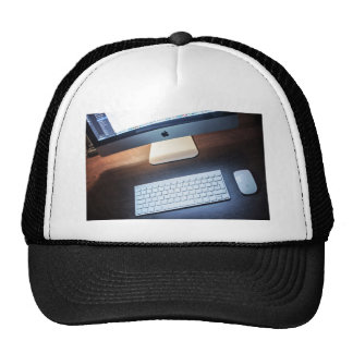 Mouse Themed, A Picture Containing A Desktop, A Wh Trucker Hat