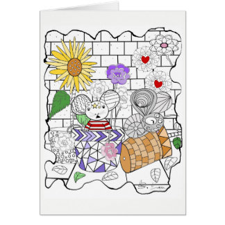 Mouse Whimsy Greeting Card
