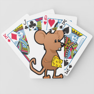 Mouse with Cheese Bicycle Playing Cards