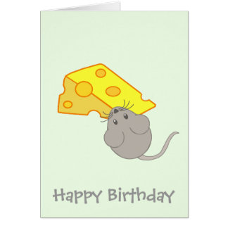 Mouse with Cheese Card